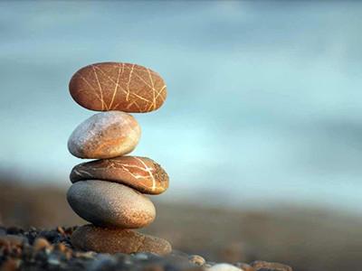 Steine liegen auf einander