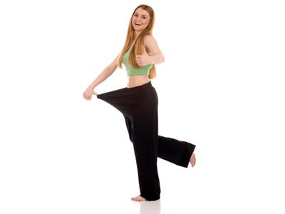 Eine junge schlanke Frau