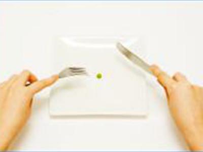 Eine Erbse auf dem Teller