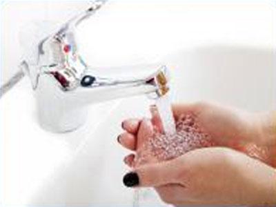 Hände werden gewaschen